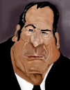 Cartoon: Tommy lee Jones color (small) by MRDias tagged caricature