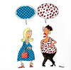 Cartoon: conversation (small) by draganm tagged woman conversation fashion