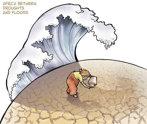 Africa - Droughts and Floods By Damien Glez | Politics ...