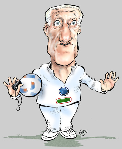 Cartoon: Didier Deschamps (medium) by Damien Glez tagged didier,deschamps,soccer,football,france,didier,deschamps,soccer,football,france