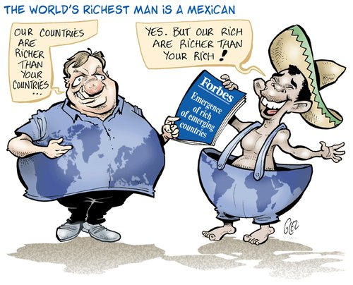 Cartoon: Forbes (medium) by Damien Glez tagged forbes,rich,mexican