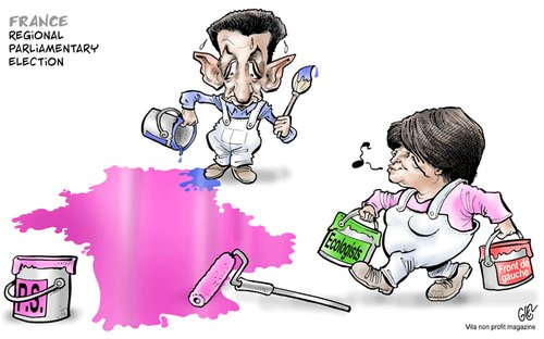 Cartoon: France (medium) by Damien Glez tagged regional,parliamentary,election,france,sarkozy