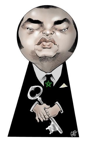 Cartoon: Mohamed VI - King of Morocco (medium) by Damien Glez tagged mohamed,king,morocco