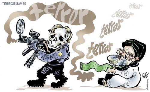 Cartoon: Norway (medium) by Damien Glez tagged terror,norway,breivik
