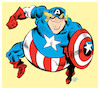 Cartoon: Captain America (small) by Damien Glez tagged captain,america,donald,trump,president,united,states
