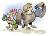 Cartoon: Germanys Leading Role in Europe (small) by Damien Glez tagged europe,germany,merkel,sarkozy