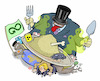 Cartoon: Irresponsible consumption (small) by Damien Glez tagged poverty,consumption,environment,north,south