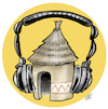 Cartoon: Radio in Africa (small) by Damien Glez tagged radio,africa,media,press