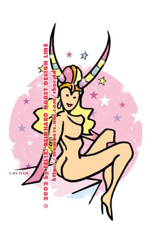 Cartoon: Astro Sample - Astro Muster (medium) by FeliXfromAC tagged steinbock,stockart,eroscop,astro,zodiac,frau,woman,women,frauen,horoscope,horoskop,astrologie,sternzeichen,sexy,girls,print,poster