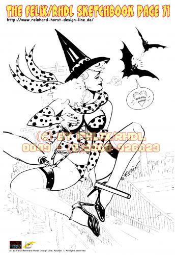Halloween FeliX Pin Up Girl!