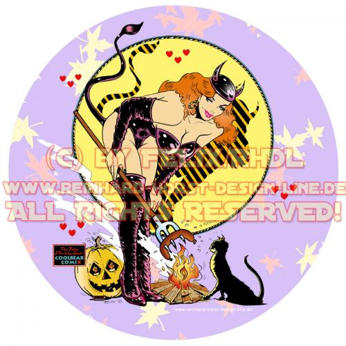 pin up designs. Cartoon: Halloween Pin Up