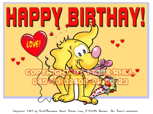 Cartoon: Happy Birthday Cartoon (medium) by FeliXfromAC tagged nice,animals,