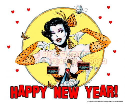 cartoon happy new year by felix medium by felixfromac tagged frauwoman