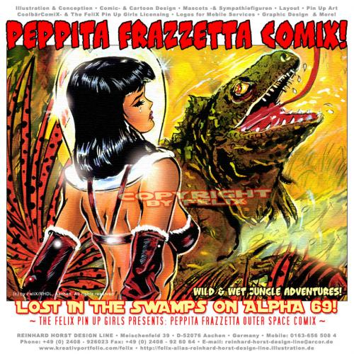 Cartoon: Peppita Frazzetta Adventures 07 (medium) by FeliXfromAC tagged girls,galore,character,frau,girl,cover,woman,comic,pin,up,sexy,erotic,space,felix,alias,reinhard,horst,design,line,