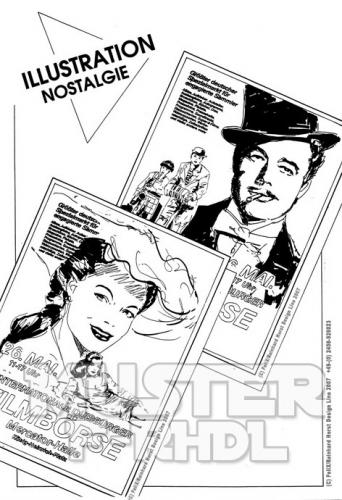 Cartoon: Poster Layouts (medium) by FeliXfromAC tagged stars,star,hollywood,rühmann,schneider,character,frau,girl,cover,woman,comic,pin,up,sexy,erotic,sampler,felix,alias,reinhard,horst,design,line,stockart