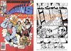 Cartoon: Retro Werbe Comic Samples (small) by FeliXfromAC tagged felix,alias,reinhard,horst,comic,retro,cartoon,comicbook,superhelden,design,line,aachen,superheroes,action,marvel