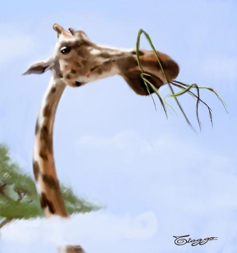 Cartoon: Giraffe (medium) by Tiaggo Gomes tagged amorim,caricatura,tiaggo,caricature