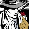 Cartoon: Richard Diamond- Red Rose (small) by illustrita tagged man,mann,woman,frau,gun,waffe,detective,private,eye