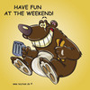 Cartoon: Fun at the weekend (small) by Jutta Lehmann tagged wochenende,freizeit,ausschlafen,ssaß,haben