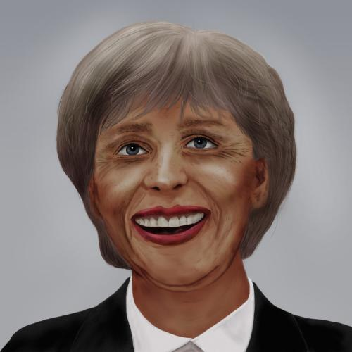 Cartoon: Merkel Obama (medium) by salinos tagged angela,merkel,obama,barack,wahl,deutschland