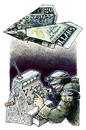 Cartoon: DRONE   -War is money- (small) by AGRA tagged war,money,conflict