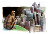 Cartoon: Paisaje (small) by AGRA tagged nature,city,population,construction