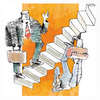 Cartoon: Up and Down (small) by AGRA tagged system,change