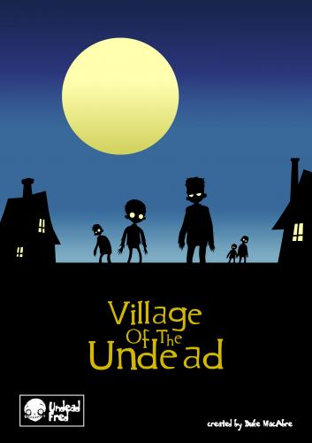 Cartoon: Village Of The Undead (medium) by volkertoons tagged creeps,creepy,horror,vollmond,mond,moon,full,people,village,fantasy,dark,halloween,zombies,zombie,funny,spooky,tod,untot,tot,death,undead,dead,illustration,volkertoons,cartoon
