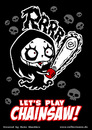 Cartoon: Nosfera - Lets play Chainsaw! (small) by volkertoons tagged volkertoons,nosfera,cartoon,illustration,comic,lustig,funny,horror,halloween,vampir,vampire,untot,undead,chainsaw,kettensäge,girl,mädchen,cute,süß,böse,evil,gothic