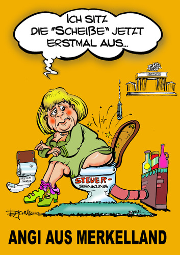 Cartoon: Aus dem Bundeskanzleramt... (medium) by cartoonist_egon tagged politik,soziales,hartziv,koch,sgbii,fdp,cdu