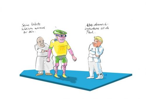 Cartoon: Aber nicht doch (medium) by lejeanbaba tagged tour,de,france,doping,roboter,rad,rennrad
