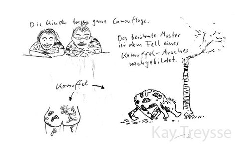 Cartoon: Der Kamuffel (medium) by lejeanbaba tagged camouflage,kamuffel,kinder