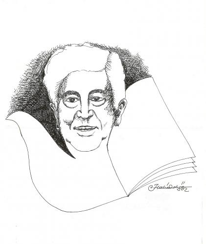 Cartoon: Aziz Nesin Turkish Humour Writer (medium) by halisdokgoz tagged aziz,nesin,turkish,humour,writer