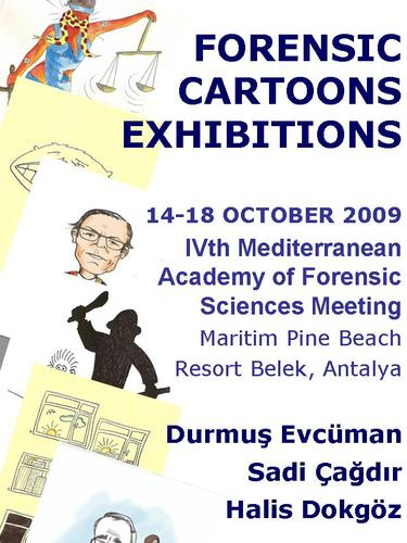 Cartoon: forensic cartoons exhibition (medium) by halisdokgoz tagged forensic,cartoons,exhibition