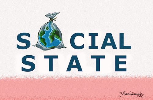 Cartoon: SOCIAL STATE IN THE WORLD (medium) by halisdokgoz tagged social,state,in,the,world