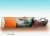 Cartoon: Cigarettes (small) by halisdokgoz tagged cigarettes