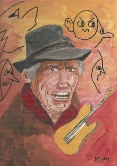 Cartoon: Keith Richards (medium) by quadenulle tagged geburtstag,musik,kultur,gitarre,rolling,stones