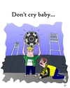 Cartoon: Dont cry baby (small) by Tricomix tagged werder bremen borussia dortmund bundesliga soccer deutscher meister sky sportschau championchip
