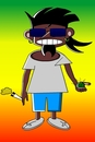 Cartoon: Shit happens! (small) by Tricomix tagged jamaica,richiy,jones,shit,mangold,leben,unterm,telespargel,drugs,smoke