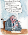 Cartoon: Sparsamkeit (small) by RAWU tagged schulden,steuern,schwarze,null,finanzminister