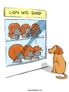 Cartoon: Considering (small) by Ahmedfani tagged lion,wig,hair,loss