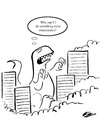 Cartoon: So Help Me Godzilla (small) by pinkhalf tagged godzilla,angst,cartoon,animal,philosophy