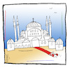 Cartoon: Hagia Sofia Moschee (small) by Hayati tagged hagia,sofia,ayasoyfa,aya,sophia,sofya,cami,müze,politik,policy,siyaset,karikatur,hayati,boyacioglu
