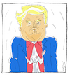 Cartoon: Portrait (small) by Hayati tagged portrait,charlottesville,donald,trump,ku,klux,klan,separatismus,rassismus,irkcilik,cartoon,karikatur,hayati,boyacioglu