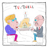 Cartoon: TV-Duell (small) by Hayati tagged tv,duell,televizyon,duellosu,angela,merkel,cdu,martin,schulz,spd,europa,tuerkei,recep,tayyip,erdogan,akp,ankara,ard,zdf,almanya,deutschland,wahlen,secimler,karikatur,hayati,boyacioglu,berlin