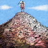 Cartoon: mountain (small) by Young Sik Oh tagged cartoon,humor,mountain