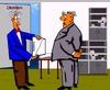 Cartoon: Gewinnsteigerung (small) by sier-edi tagged boss,büro,direktion,gewinne