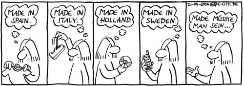 Cartoon: Made in Eastern Germany (medium) by weltalf tagged hänflinge