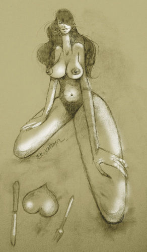 Cartoon: -nude-2012 (medium) by donquichotte tagged nd
