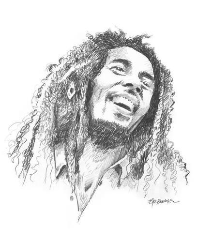Bob Marley By Donquichotte Media Culture Cartoon Toonpool
